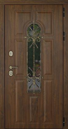 Изображение Дверь ДК Лион Орех (Терморазрыв)