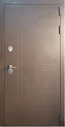 Изображение Дверь ДК Термо-Люкс Фактурный шоколад (терморазрыв)