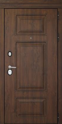 Изображение Дверь ДК Порта Темный Орех (Терморазрыв)