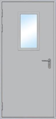Изображение Дверь противопожарная L100 остекленная 1000х2100