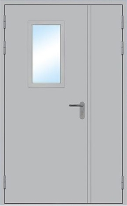 Изображение Дверь противопожарная L200 остекленная 1300х2100